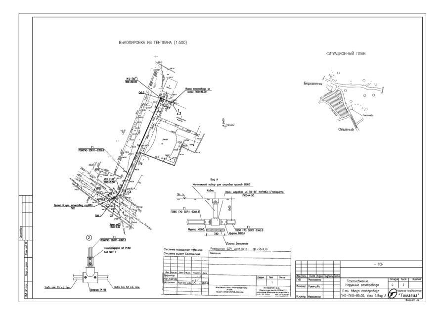 проект наружного газоснабжения